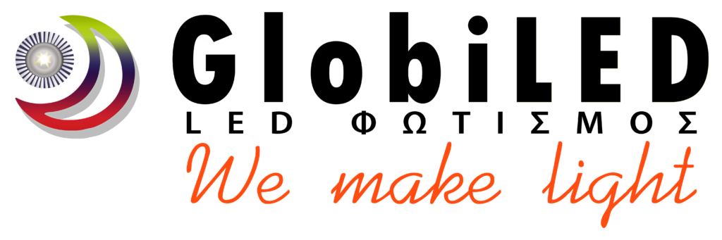 Λογότυπο GlobiLED (Άσπρο)